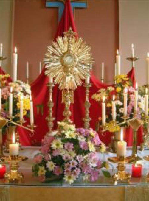 image of the blessed sacrament