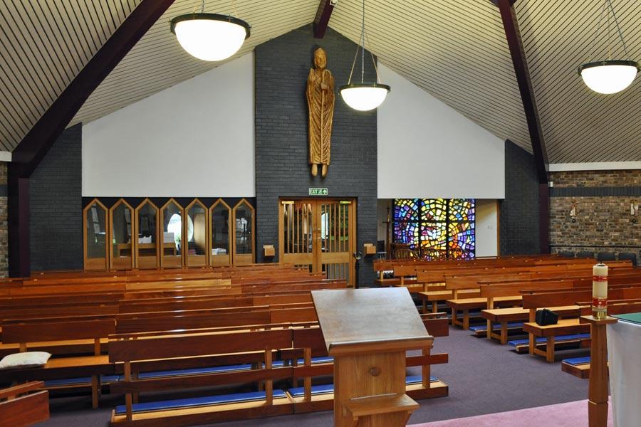 interior of st wulstan's RC church, totteridge