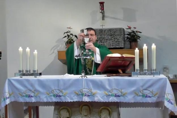 mass being celebrated at st john henry newman highwycome on youtube